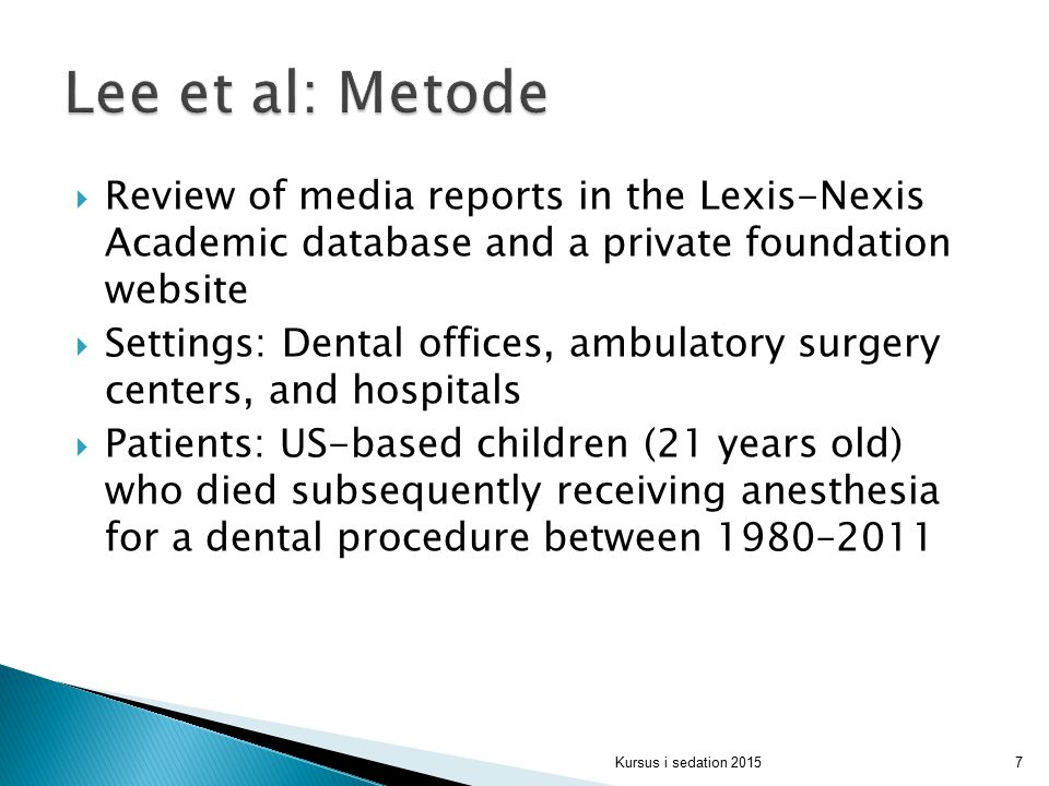 Lee et al: Metode Review of media reports in the Lexis-Nexis Academic database and a private foundation website.