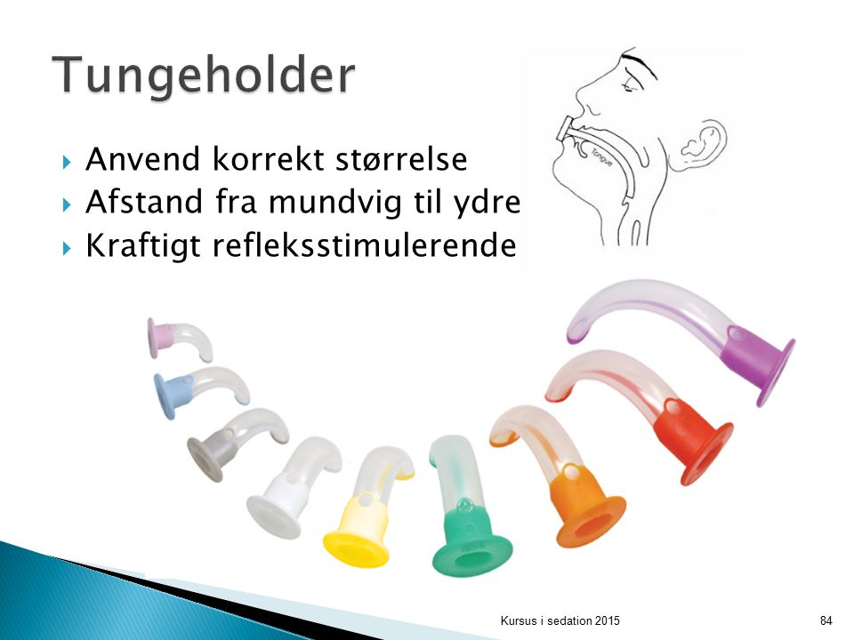 Tungeholder Anvend korrekt størrelse Afstand fra mundvig til ydre øre