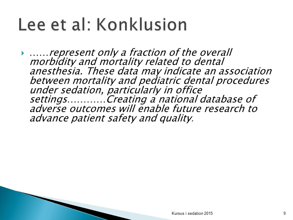 Lee et al: Konklusion