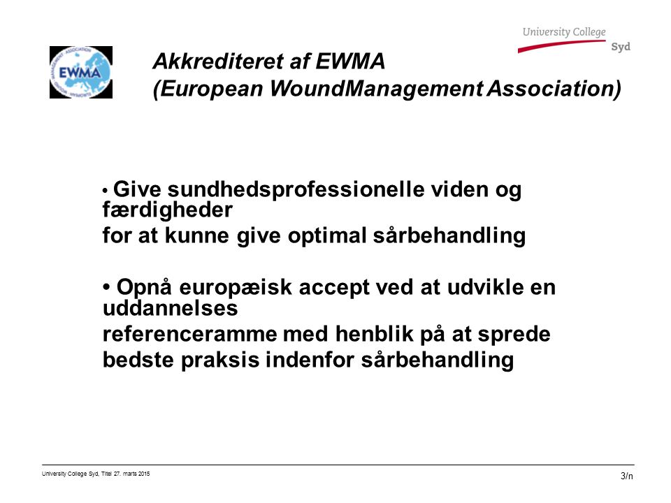 (European WoundManagement Association)