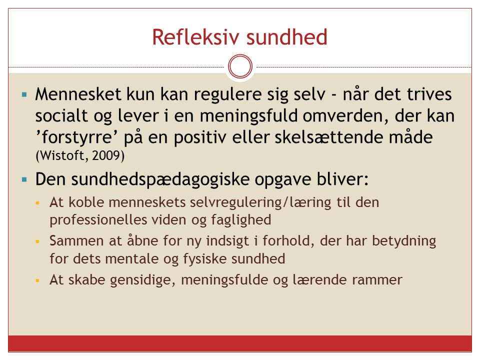 Refleksiv sundhed