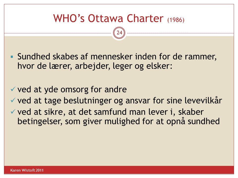 WHO's Ottawa Charter (1986)