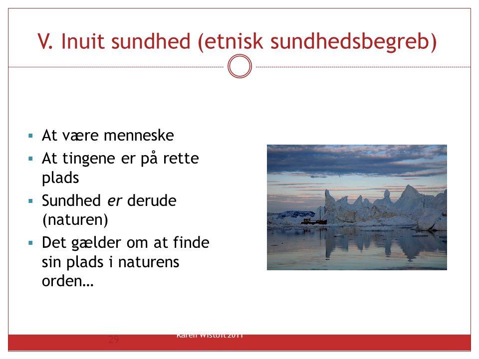 V. Inuit sundhed (etnisk sundhedsbegreb)