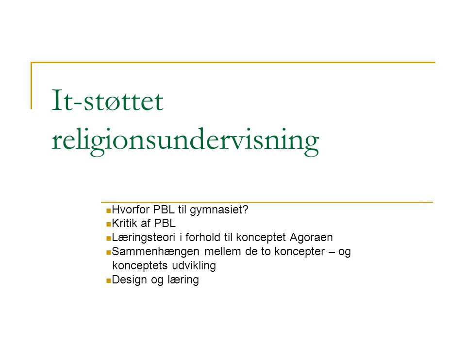 It-støttet religionsundervisning