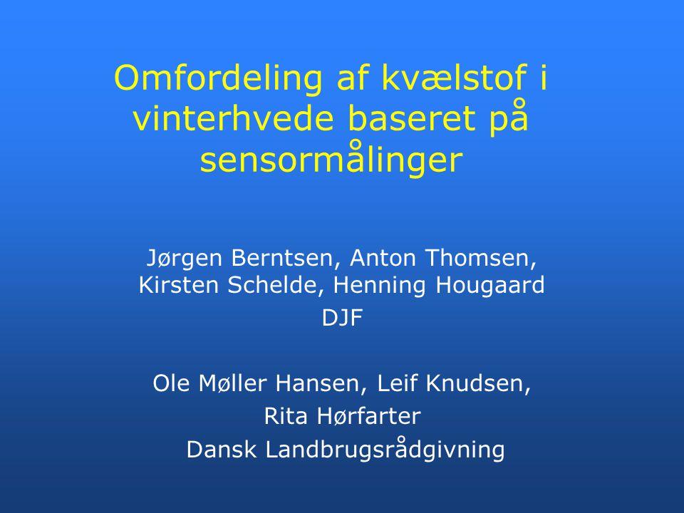Omfordeling af kvælstof i vinterhvede baseret på sensormålinger