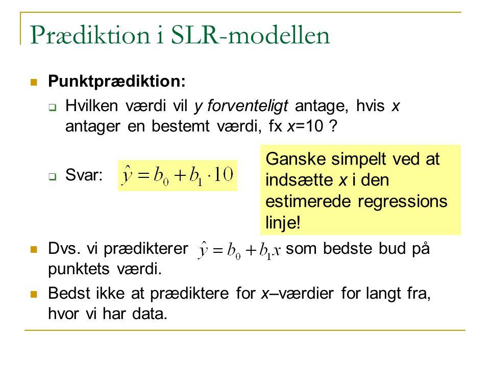 Prædiktion i SLR-modellen