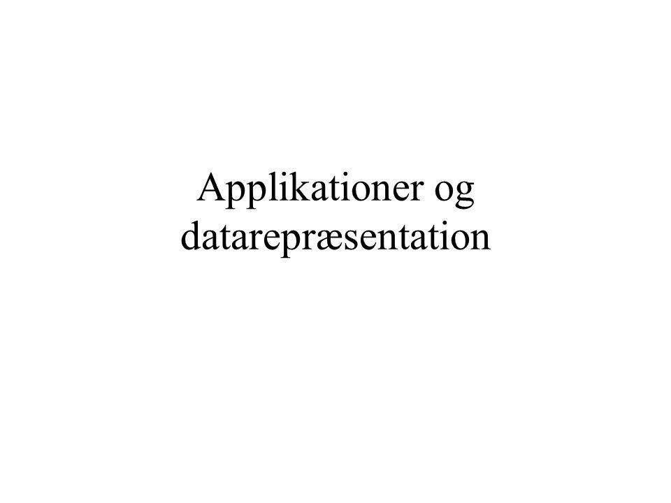 Applikationer og datarepræsentation