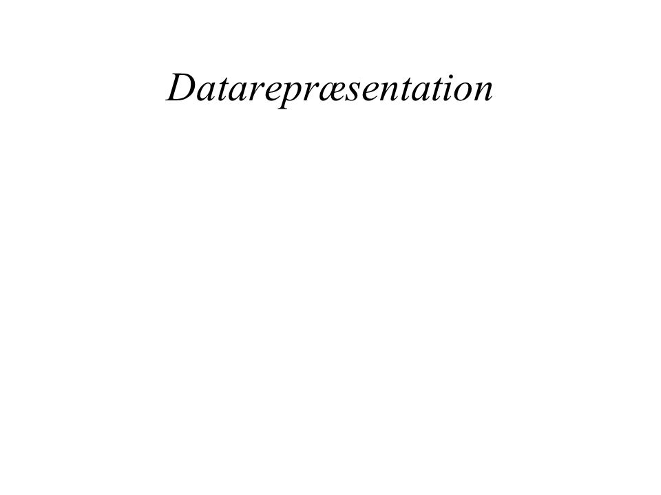 Datarepræsentation