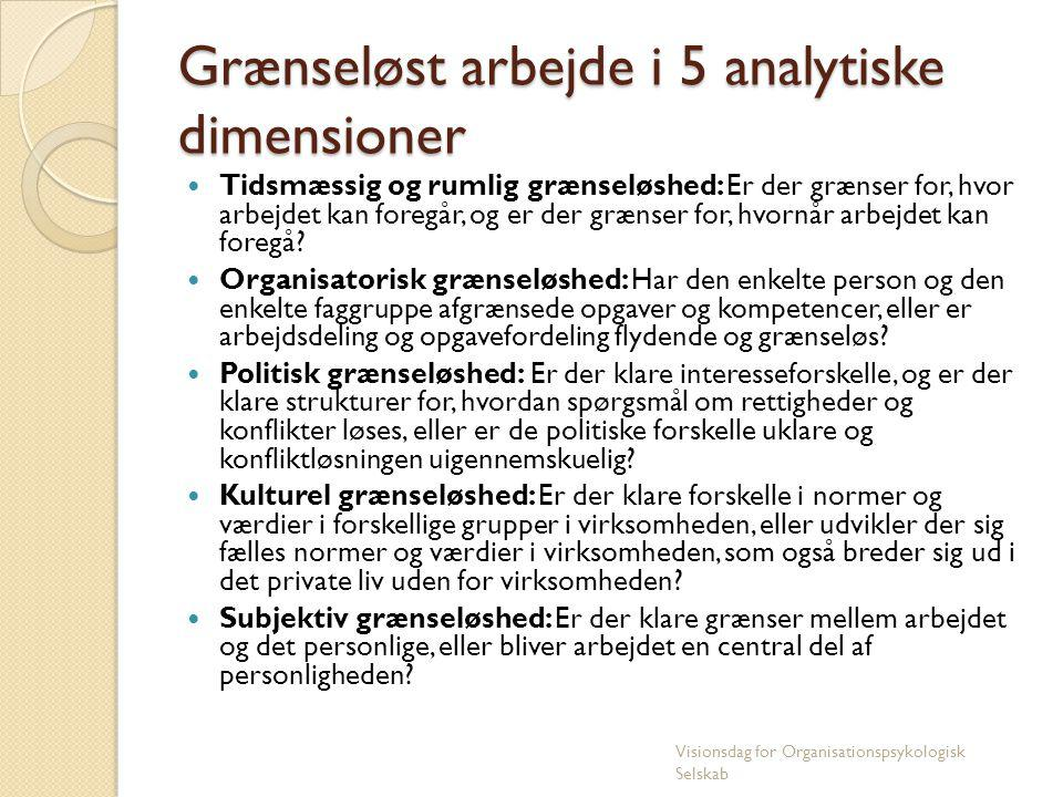 Grænseløst arbejde i 5 analytiske dimensioner