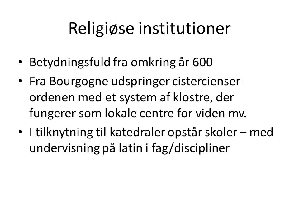 Religiøse institutioner