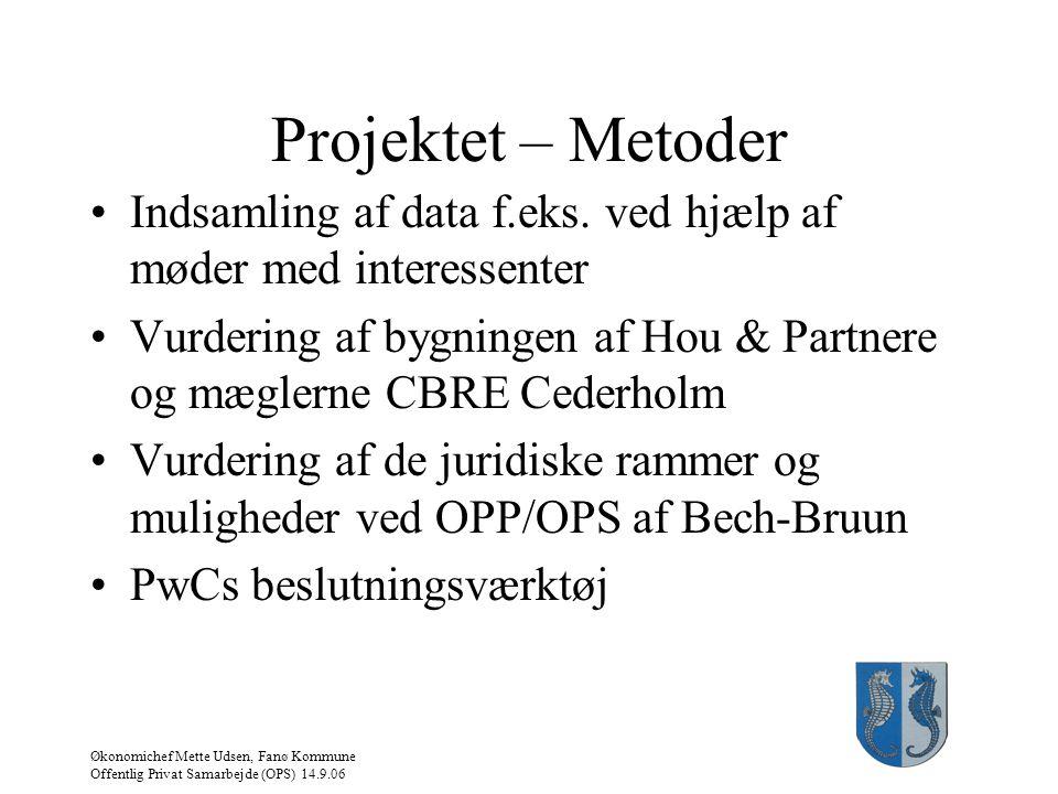 Projektet – Metoder Indsamling af data f.eks. ved hjælp af møder med interessenter.