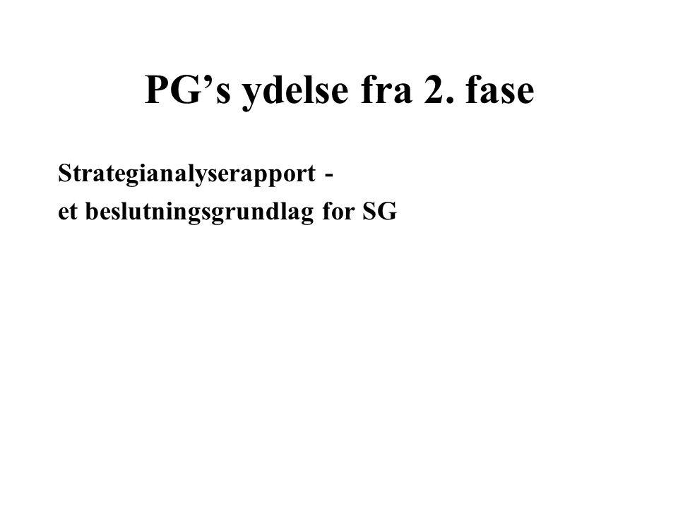 PG's ydelse fra 2. fase Strategianalyserapport -