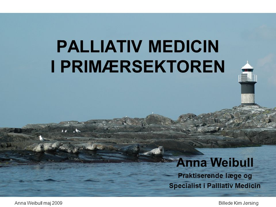 PALLIATIV MEDICIN I PRIMÆRSEKTOREN