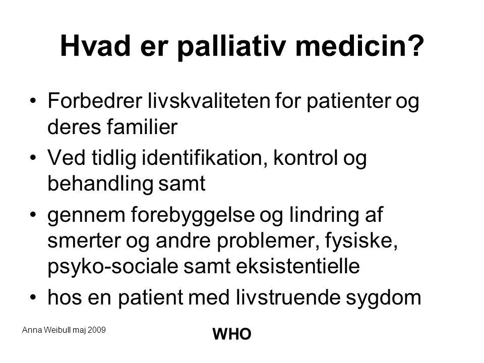 Hvad er palliativ medicin