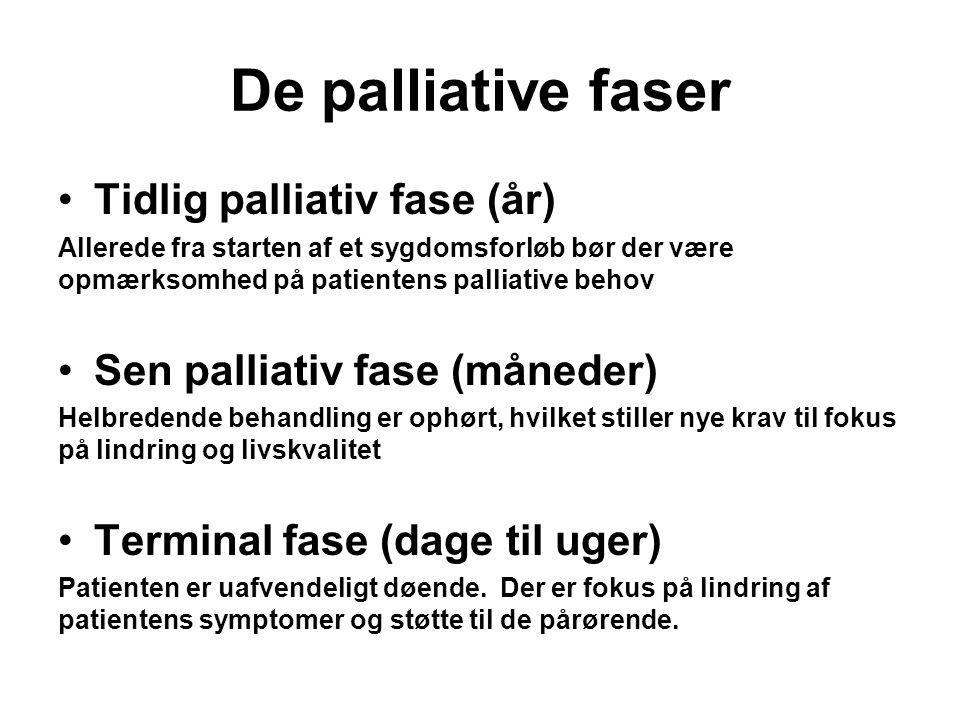 De palliative faser Tidlig palliativ fase (år)
