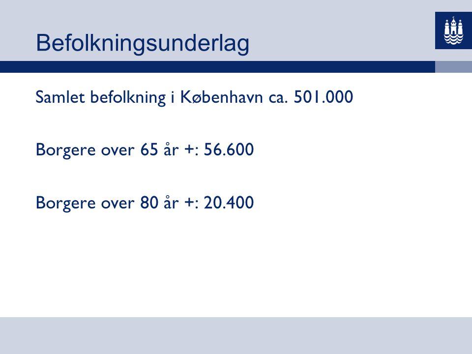 Befolkningsunderlag Samlet befolkning i København ca. 501.000