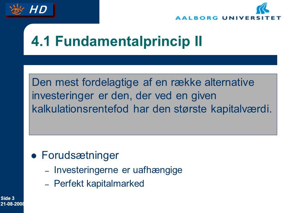 4.1 Fundamentalprincip II
