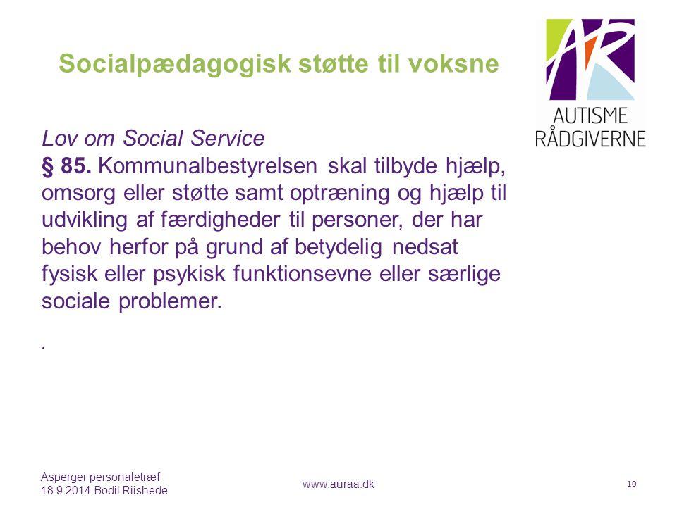 Socialpædagogisk støtte til voksne