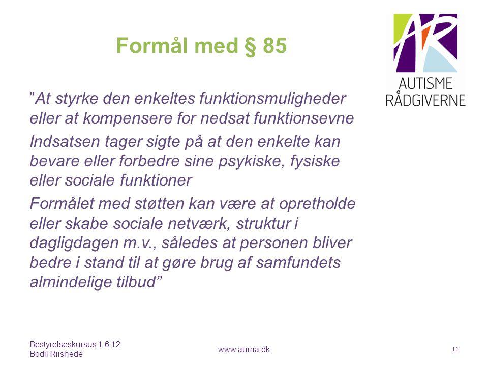Formål med § 85
