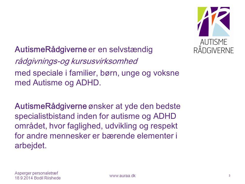 AutismeRådgiverne er en selvstændig rådgivnings-og kursusvirksomhed