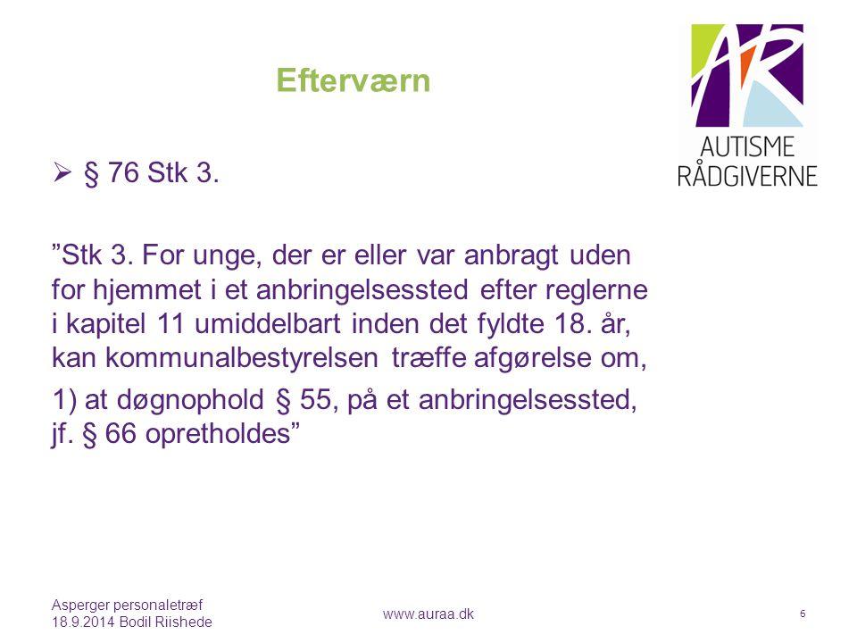 Efterværn § 76 Stk 3.