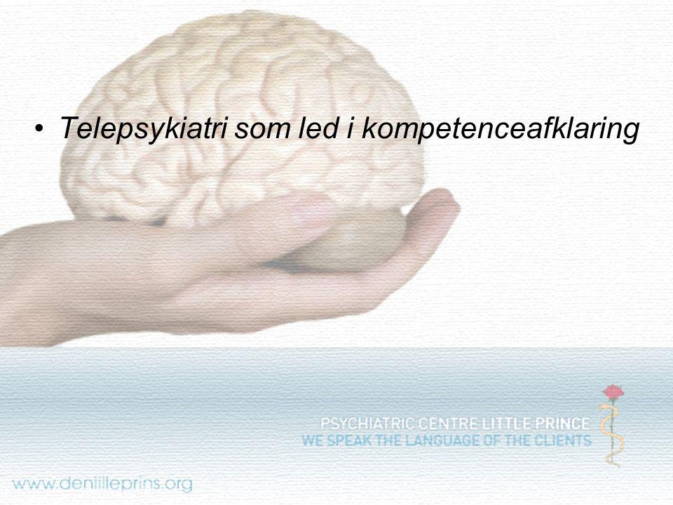 Telepsykiatri som led i kompetenceafklaring