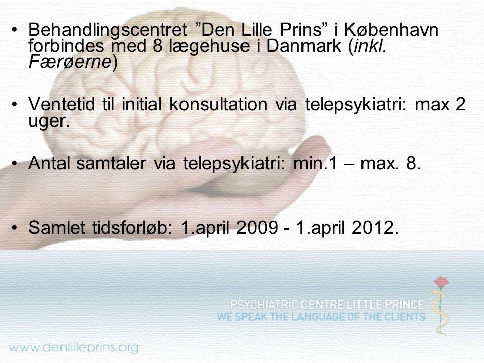 Behandlingscentret Den Lille Prins i København forbindes med 8 lægehuse i Danmark (inkl. Færøerne)