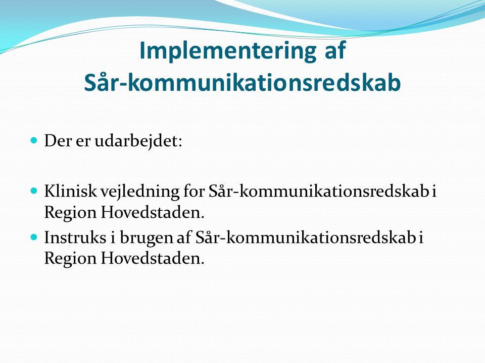 Implementering af Sår-kommunikationsredskab