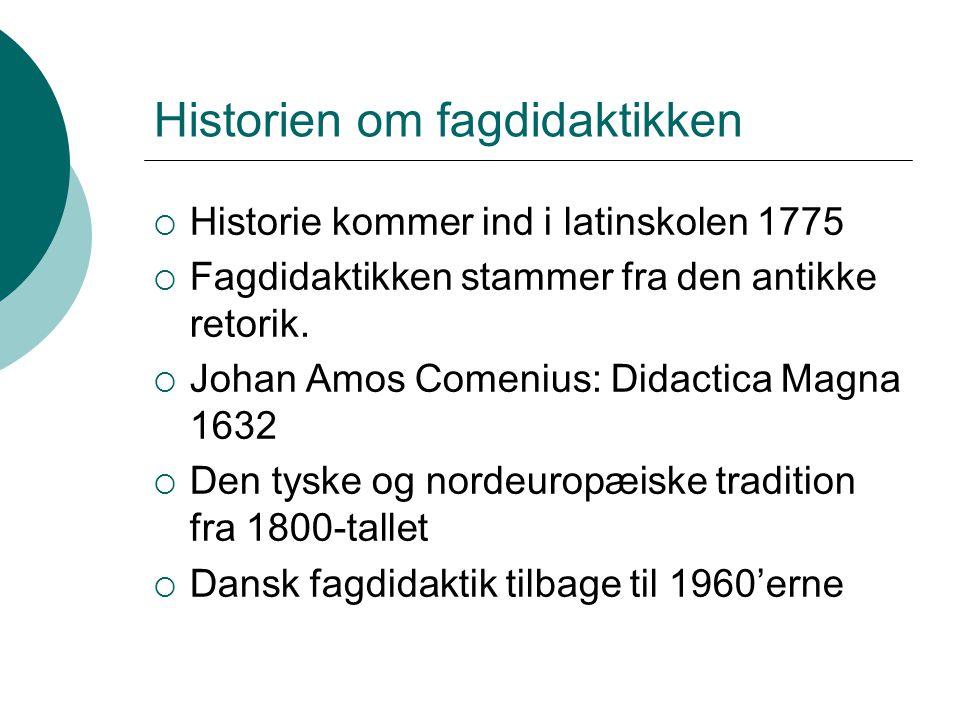 Historien om fagdidaktikken