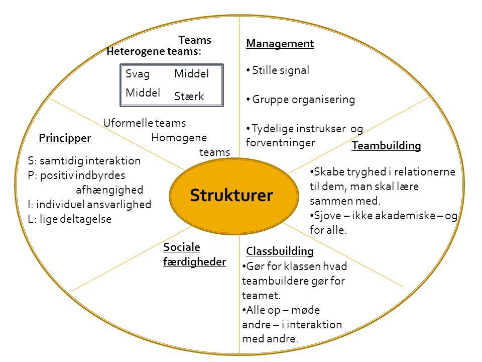 Strukturer Svag Teams Management Heterogene teams: Stille signal