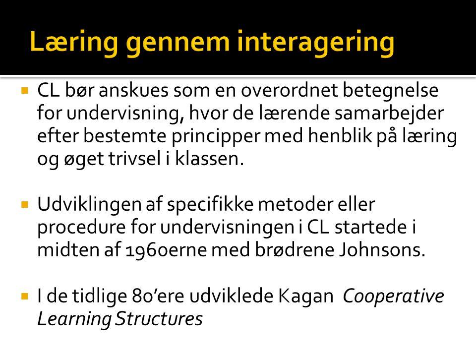 Læring gennem interagering