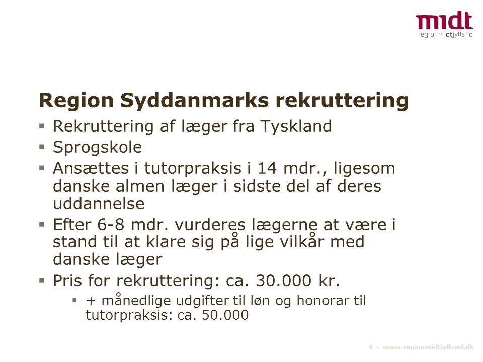 Region Syddanmarks rekruttering