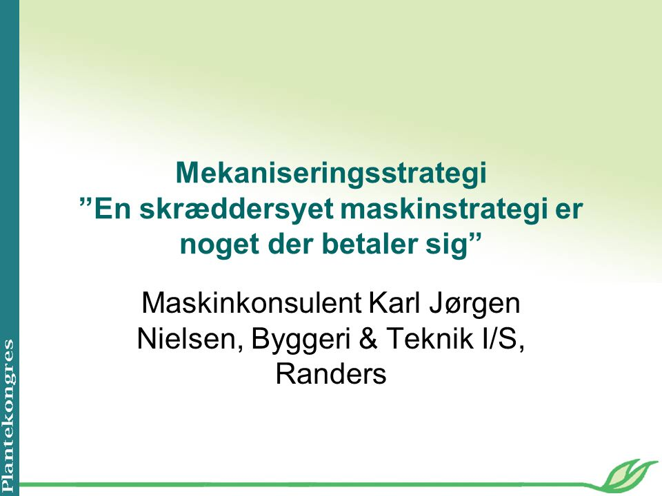 Maskinkonsulent Karl Jørgen Nielsen, Byggeri & Teknik I/S, Randers