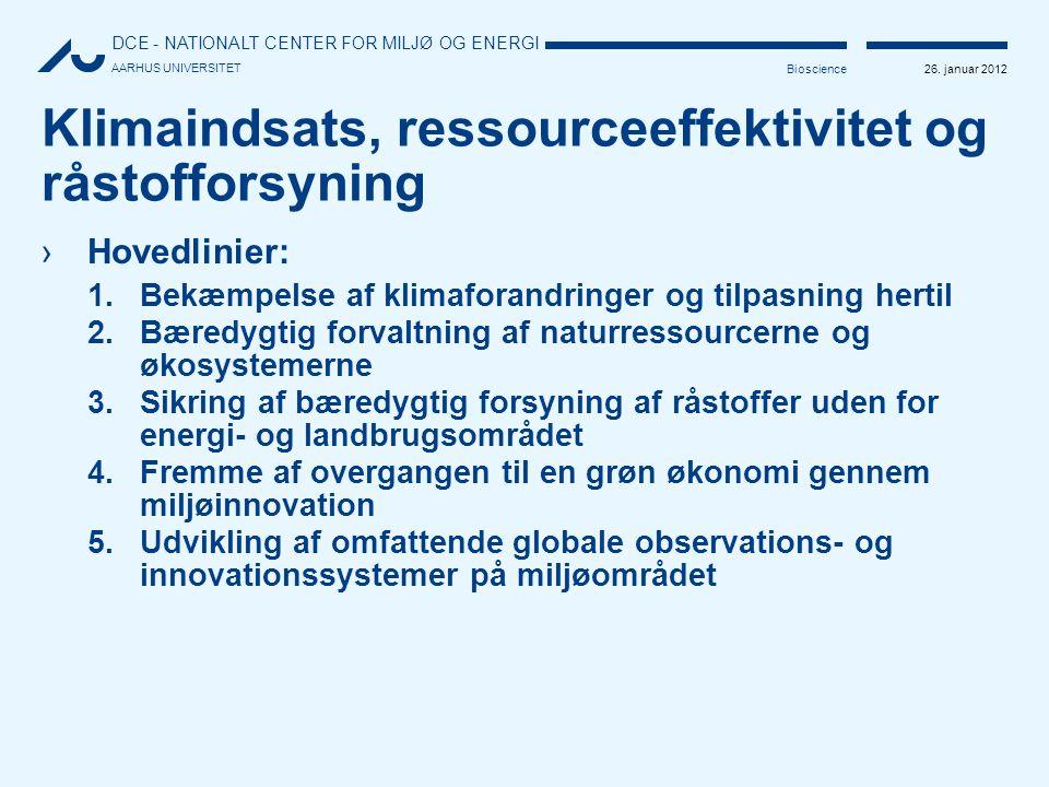 Klimaindsats, ressourceeffektivitet og råstofforsyning