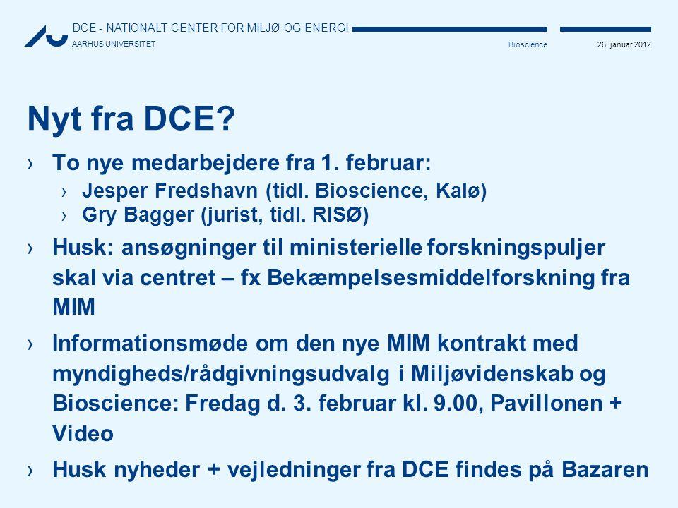 Nyt fra DCE To nye medarbejdere fra 1. februar: