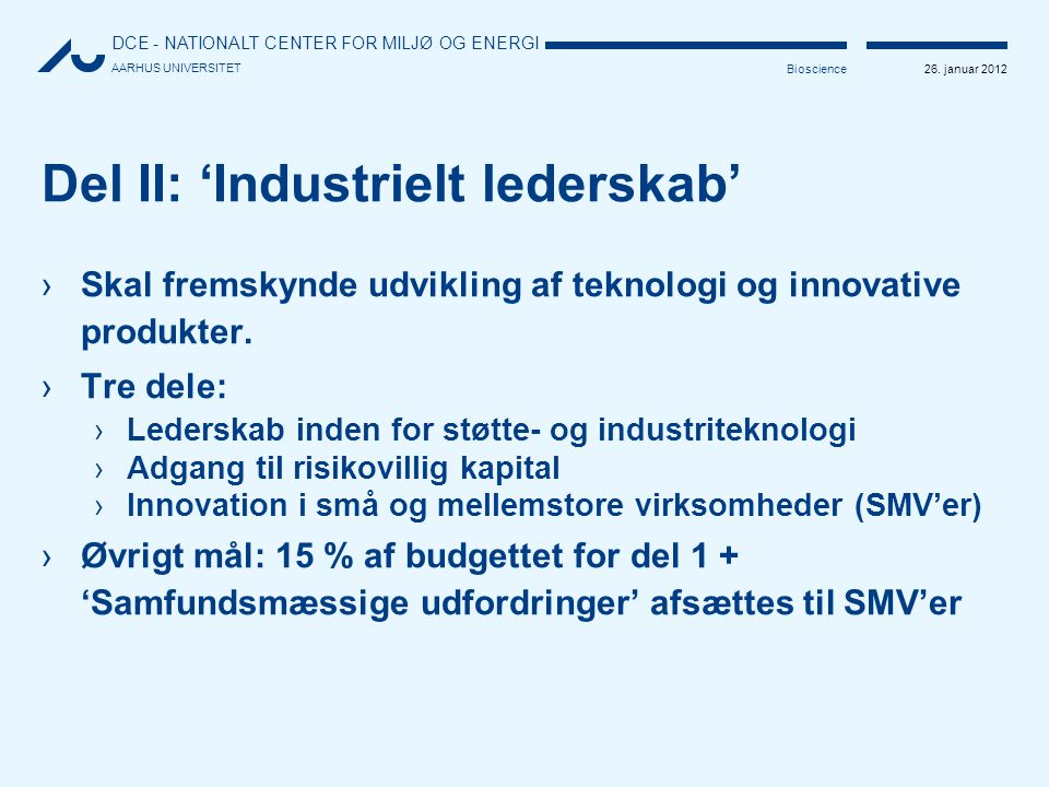 Del II: 'Industrielt lederskab'