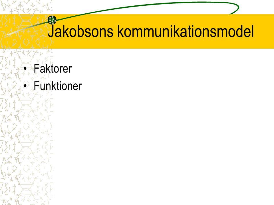 Jakobsons kommunikationsmodel