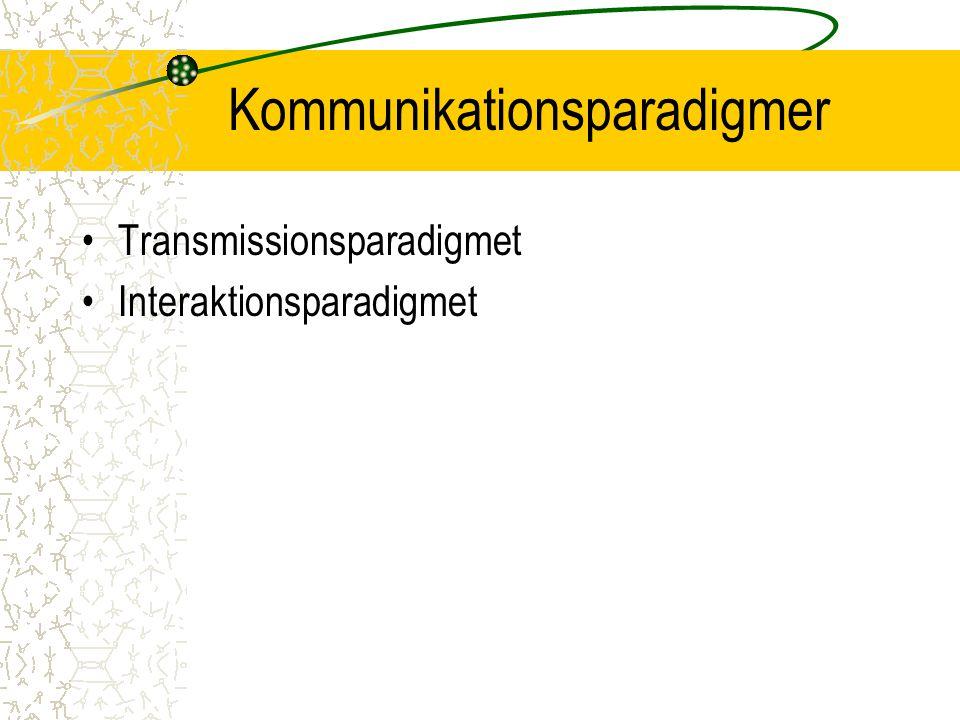 Kommunikationsparadigmer