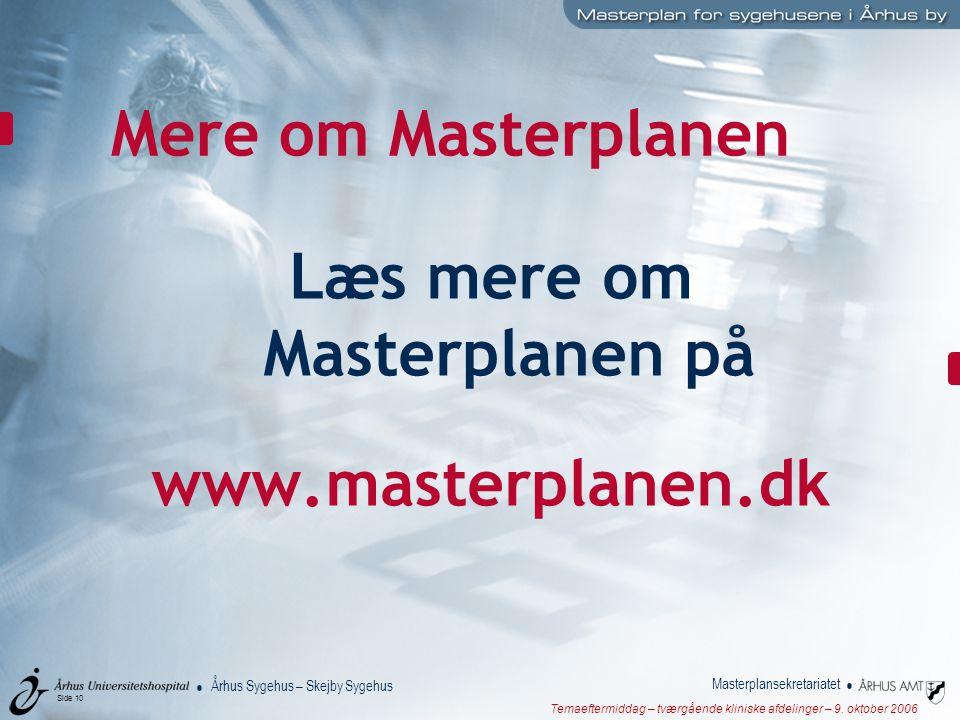 Læs mere om Masterplanen på