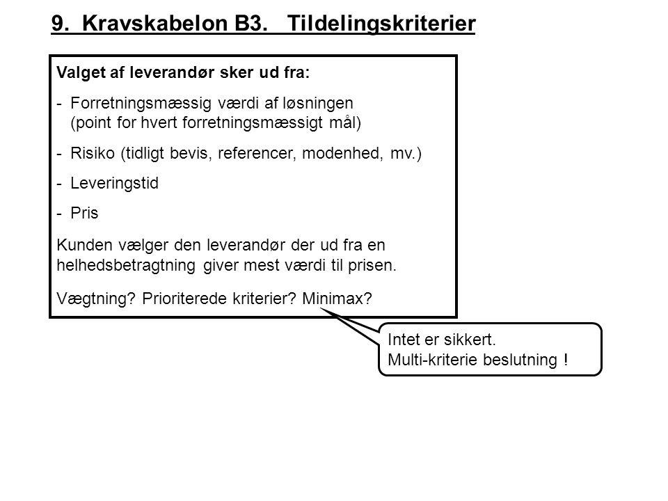 9. Kravskabelon B3. Tildelingskriterier