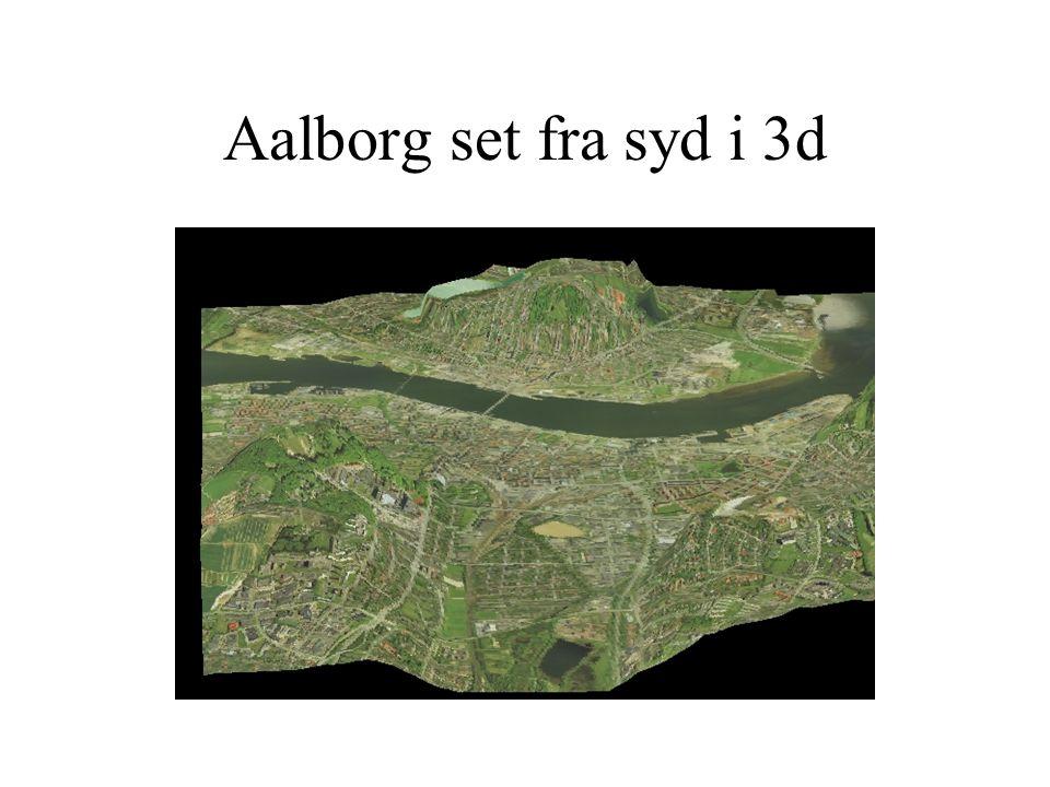 Aalborg set fra syd i 3d