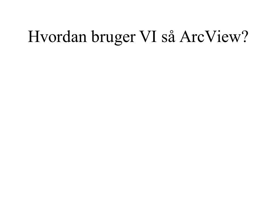 Hvordan bruger VI så ArcView