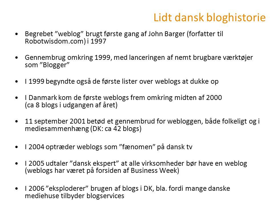 Lidt dansk bloghistorie