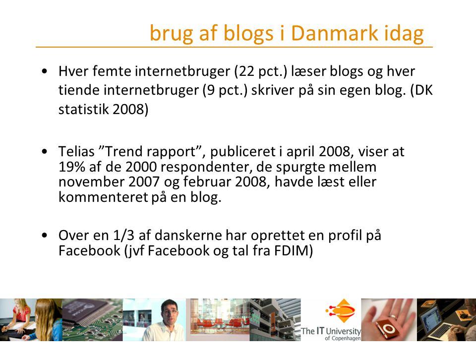 brug af blogs i Danmark idag