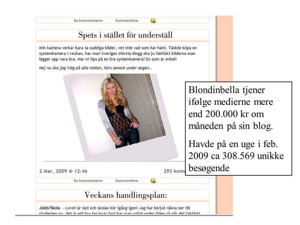Blondinbella tjener ifølge medierne mere end 200