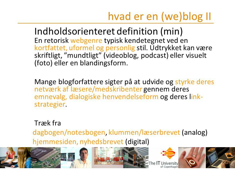 hvad er en (we)blog II