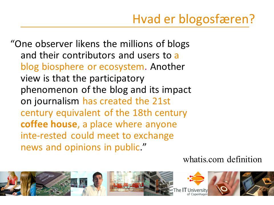 Hvad er blogosfæren