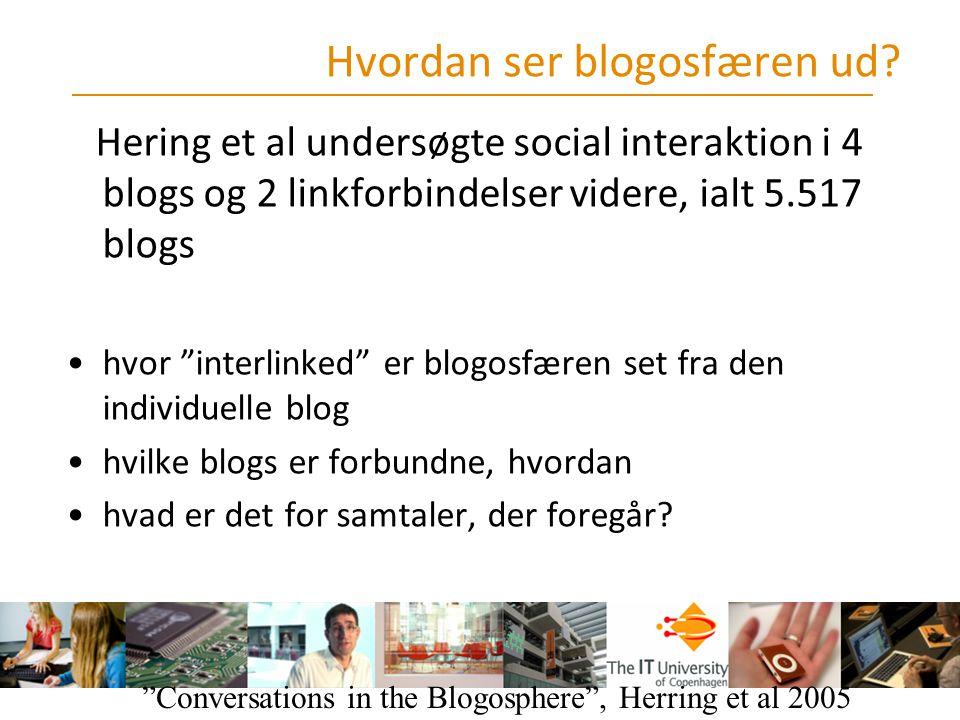 Hvordan ser blogosfæren ud