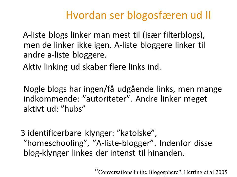 Hvordan ser blogosfæren ud II