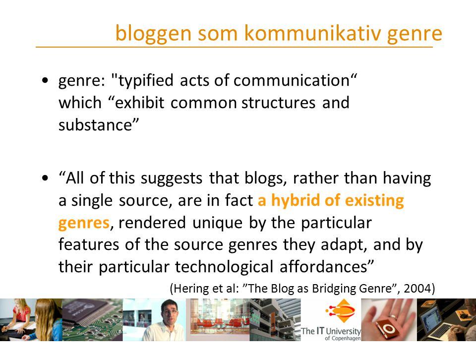 bloggen som kommunikativ genre